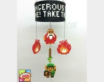 Legend of Zelda Mobile | Hanging Mobile | Legend of Zelda Decor | Retro Game Decor | Video Game Art