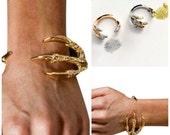 Dragon Claw Gold Bracelet Cuff  Men's Women's Unisex Gold Bracelet