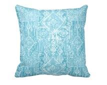 7 Sizes Available: Tribal Pillow Cover Blue Throw Pillow Cover Blue Pillow Cover Tribal Decor Oversized Pillow Euro Pillow Aztec Pillow