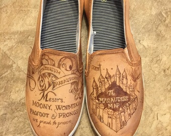 Harry Potter Painted Shoes