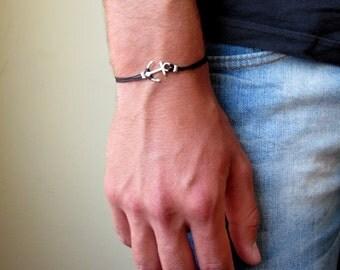 Mens Anchor Bracelet , Nautical Bracelet , Mens Bracelet , Bracelet For Men , Mens Gift , Mens Jewelry , Boyfriend Gift , Jewelry For Mens