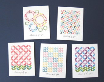 Thinking of You Notecards - Boxed Set - Assorted Quilt Designs