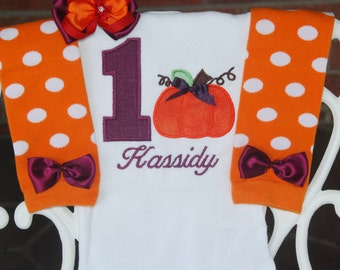 Pumpkin First Birthday Outfit! Fall pumpkin 1st Birthday Outfit/Pumpkin Birthday/Fall Birthday Outfit/Thanksgiving Birthday Outfit/Pumpkin