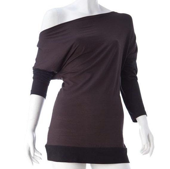 haut ou mini robe mod le asym trique col bateau par shoppingbegood. Black Bedroom Furniture Sets. Home Design Ideas