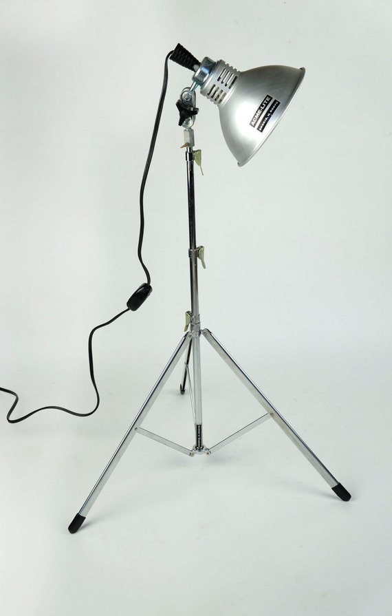 Set Of 2 Vintage Acme Lite Photography Light Spotlight Keg