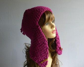 Hat Pattern, Hat Knitting Pattern, Pattern PDF, PDF Knitting Pattern, Trapper Hat, Digital Patterns, Aviator Hat Pattern, Ear Flap Hat