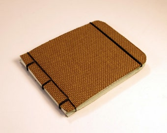 Brown Fabric Pocket Notebook