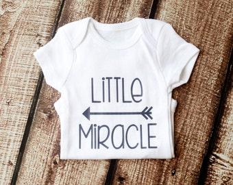 Little Miracle Newborn Onesie, Miracle Baby, Newborn Miracle, Baby Girl, Baby Boy, Rainbow Baby, Girl Shirt, Preemie Onesie, NICU Baby