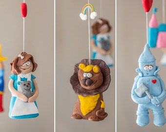 nursery mobile, baby mobile, baby girl mobile, baby boy mobile, hanging mobile, nursery decor mobile, the wizard of oz
