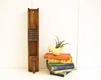 Antique Mandolin Vegetable Slicer, Rustic Kitchen Decor
