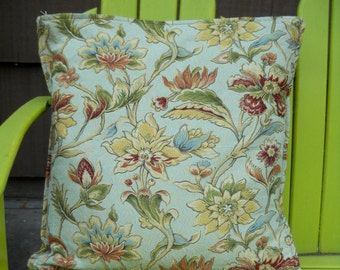 PILLOW SALE--Pillow Cover, Designer Upholstery Fabric BIG Pillow Cover, Traditional Floral Pattern in Beautiful Colors