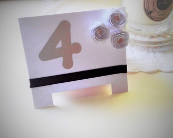 Table number placecard