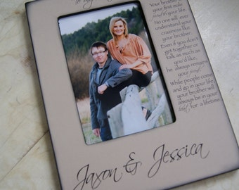 To My Brother, Personalized Picture Frame