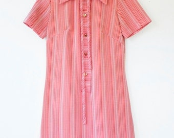 60s mod stripe dress