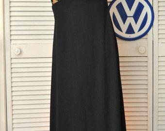 70's Womens Teens Vintage Full Length Halter Maxi Dress/Floral Chiffon Bodice & Matching Jacket/Formal/Prom/Junior/Pink Black Medium