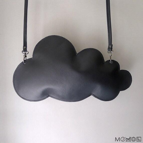 Cloud clutch - black leather