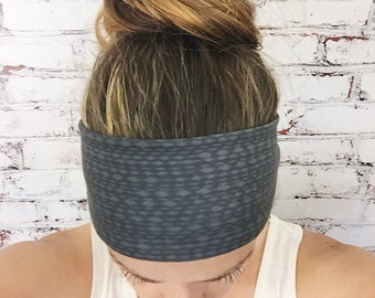 Yoga Headband - Mottled - Soft Black - Eco Friendly