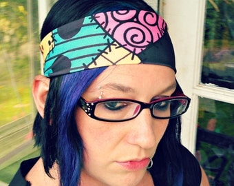 Sally Stitches the Nightmare Before Christmas inspired headband hair bow