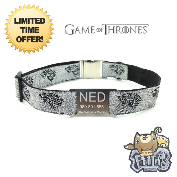House Stark Dog Collar