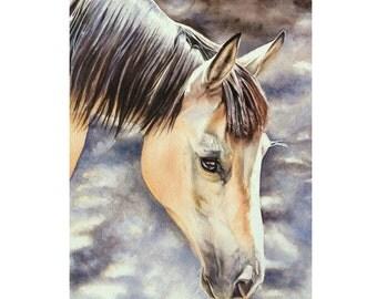 Custom Horse Painting, Horse Portrait, Horse Watercolor, Equine Art, Horse Art, Watercolor Horse