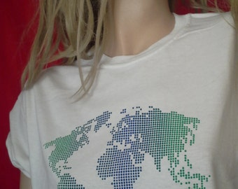 Global T-shirt NEW Hand-Screen Printed