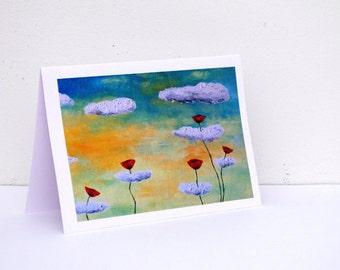 Birthday card for sister Mom Birthday Card Mom card for Her Card for Friend Birthday card for Wife Blank card Pretty Flowers card