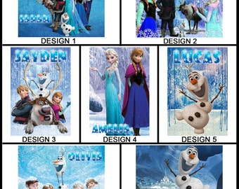 Personalised Frozen Jigsaw Puzzle - 120pc - With any Name or Message - Gift Idea