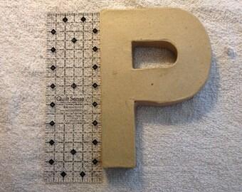 Paper Mache Hollow Letter - Letter P