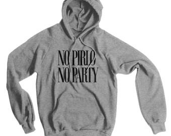 No Pirlo, No Party American Apparel Pullover Hoodie