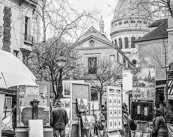 Paris photograph, Paris print, Paris print,Paris poster,Paris wall art,Montmartre,wall decor,Paris photograph,black and white photograph