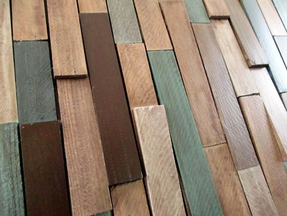 neutral wall modern wood wall wood shim upcycled