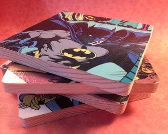 CUSTOM Wooden Comic Book Coasters (Multiple Superhero Options!)