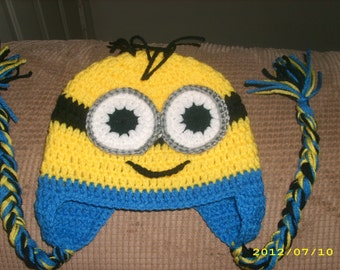 Crochet One Eye/Two Eyes Minion Hats