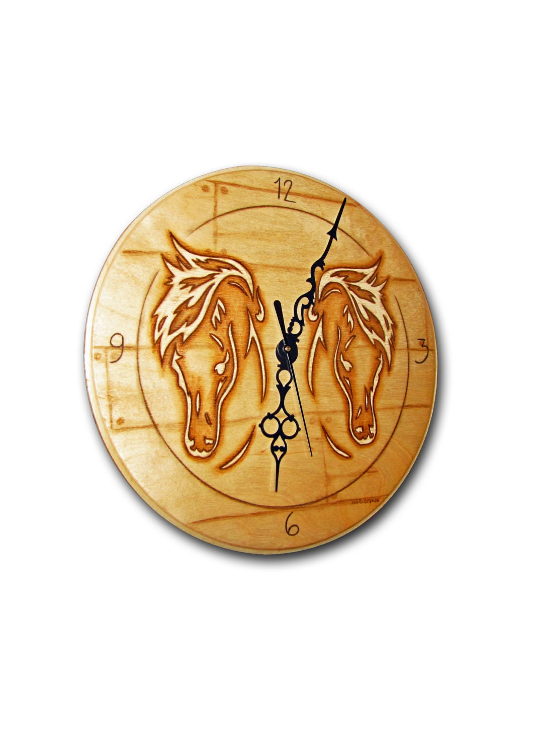 On sale clock horse clock handmade unique clock wood wall Unique clocks for sale