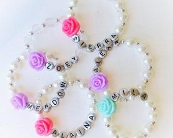 Personalized Girls Beaded Bracelet