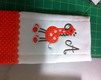 Single Monogram Diaper Burp Cloth
