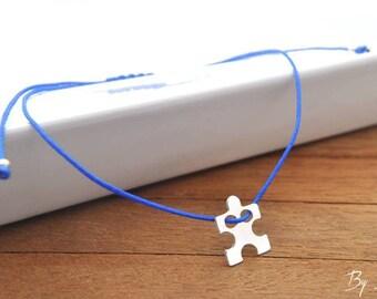 Sterling Silver puzzle bracelet, puzzle pendant, silver puzzle, puzzle, puzzle piece, puzzle, silver bracelet, puzzle small, delicate