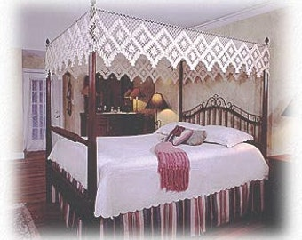 Queen Size Fishnet Canopy - Double Diamond Design