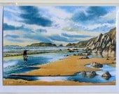 X 4 Different Watercolour Greetings Cards. Minimum Order X 3 of any from 30+ Pick and Mix. Seascape, Boats, Coastal, Wildlife and Flowers.