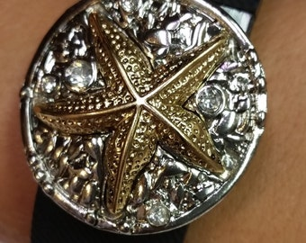 """Fitbit Charge, Garmin Vivofit Band Bling Accessory - """"Starfish"""""""