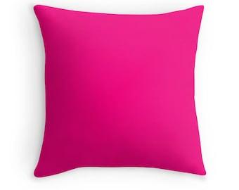 Wonderful Hot Pink Pillow   Etsy