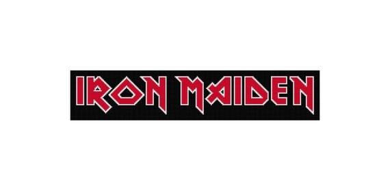 logo du groupe iron maiden croix broderie motif point de croix. Black Bedroom Furniture Sets. Home Design Ideas