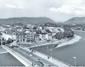 Villach, Vintage 1963 Real Photo Postcard, Austria