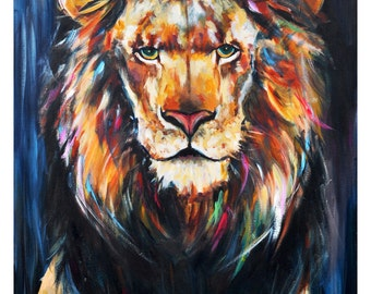Lion painting print A4 LIMITED EDITION