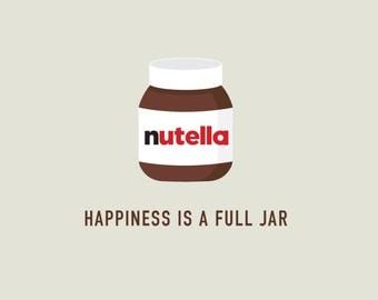 Funny Blank Card | Nutella Card | Funny Nutella Card | Friendship Card