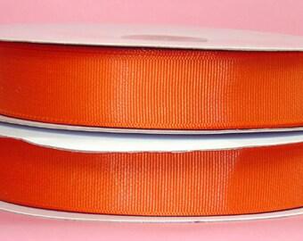 """5 yards 1.5"""" Orange Grosgrain Ribbon - Orange Grosgrain Ribbon 5 yards - Orange Ribbon - 1 1/2"""" Orange Grosgrain Ribbon"""