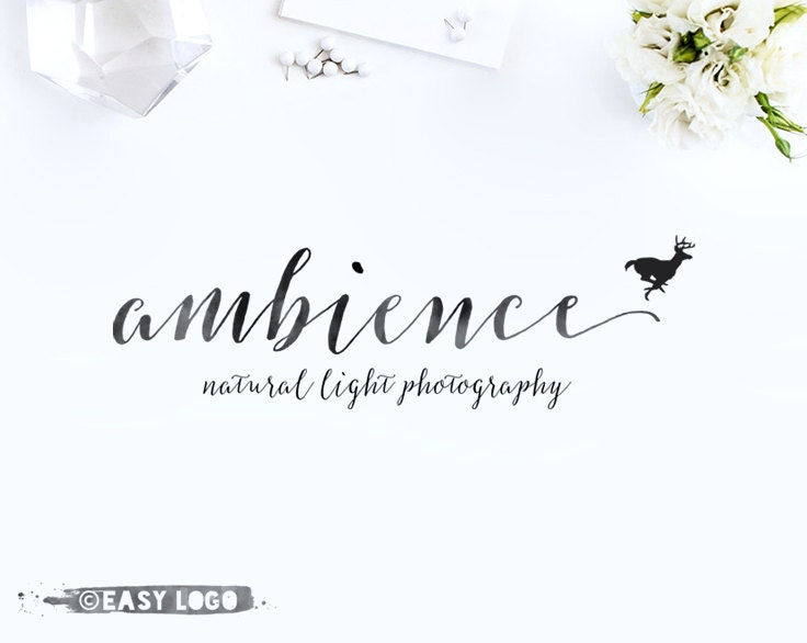 Modern calligraphy logo professional whimsical