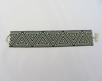 Triangle Peyote Cuff Bracelet - FREE SHIPPING in the U.S.