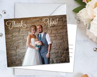 Thank You Wedding Postcard - 2 SIDED - 4.25 x 5.5 JPG or PDF