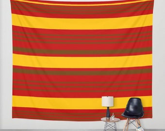 Red Yellow Brown Stripes Wall Tapestry Red Yellow Brown Stripes Picnic Blanket Red Yellow Brown Stripes Beach Blanket